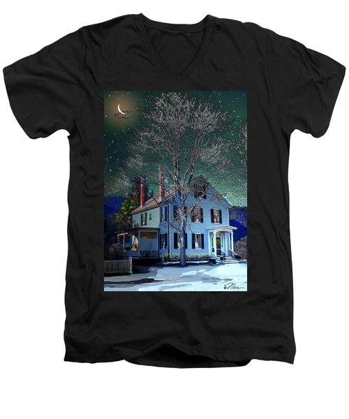 The Noble House Men's V-Neck T-Shirt by Nancy Griswold