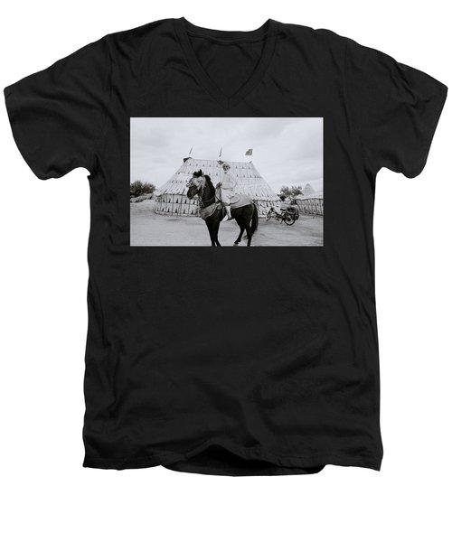 The Noble Man Men's V-Neck T-Shirt by Shaun Higson