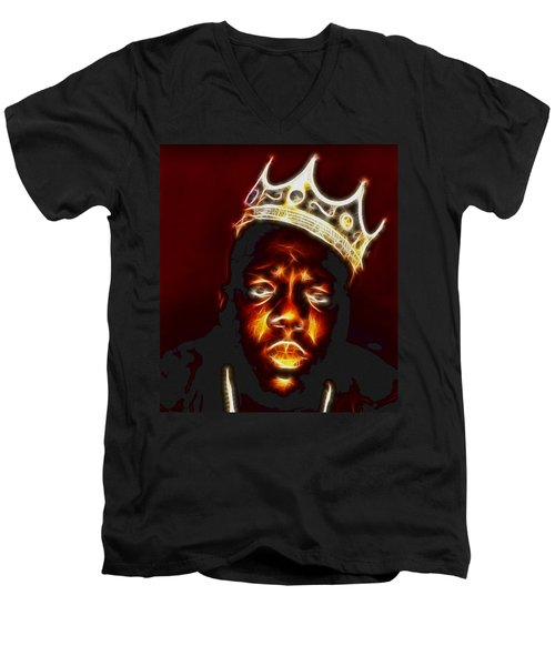 The Notorious B.i.g. - Biggie Smalls Men's V-Neck T-Shirt