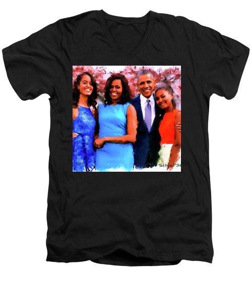 The Obama Family Men's V-Neck T-Shirt