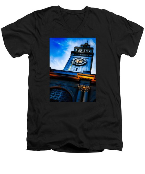 The Old Clock Tower Men's V-Neck T-Shirt