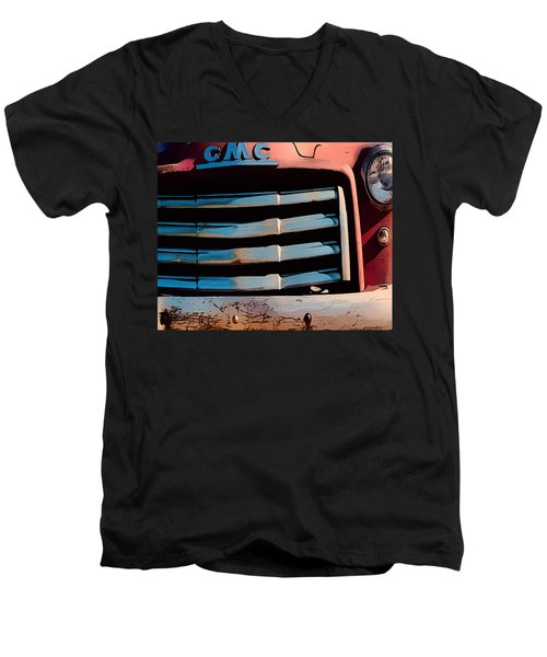 The Old Gmc At Pilar Men's V-Neck T-Shirt