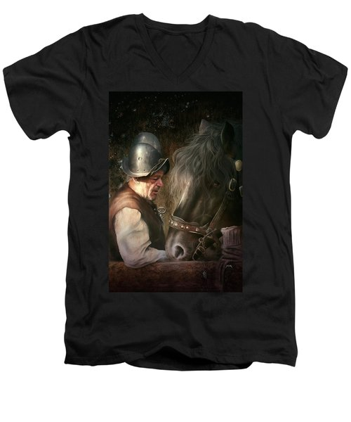 The Old Man And His Trusty Friend Men's V-Neck T-Shirt