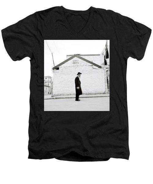 The Old Man Of Mea Shearim Men's V-Neck T-Shirt by Shaun Higson