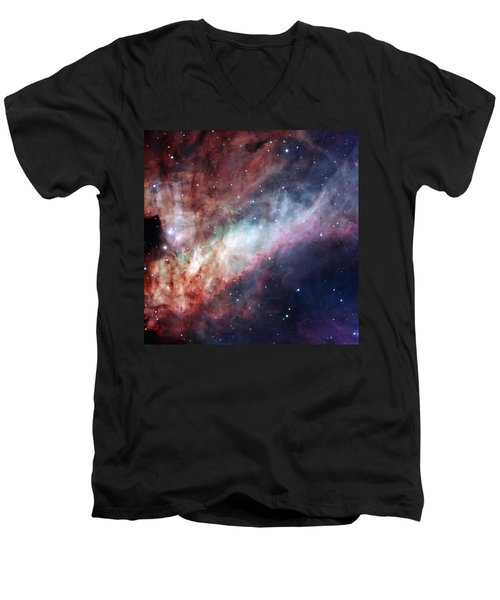 Men's V-Neck T-Shirt featuring the photograph The Omega Nebula by Eso