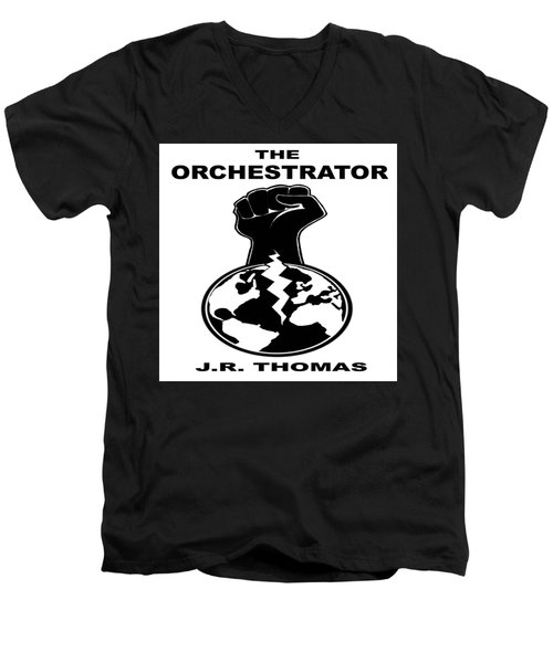 Men's V-Neck T-Shirt featuring the digital art The Orchestrator Cover by Jayvon Thomas