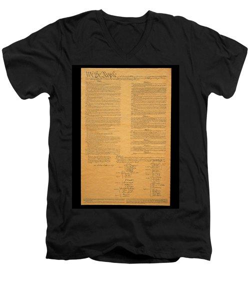 The Original United States Constitution Men's V-Neck T-Shirt