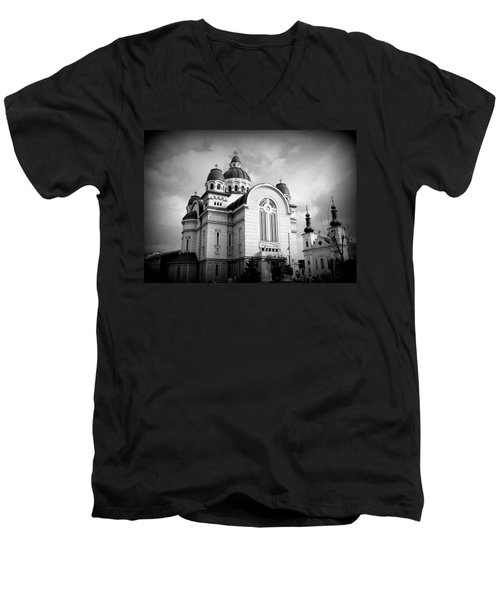 The Orthodox Cathedral And The Saint John The Baptist Church Men's V-Neck T-Shirt