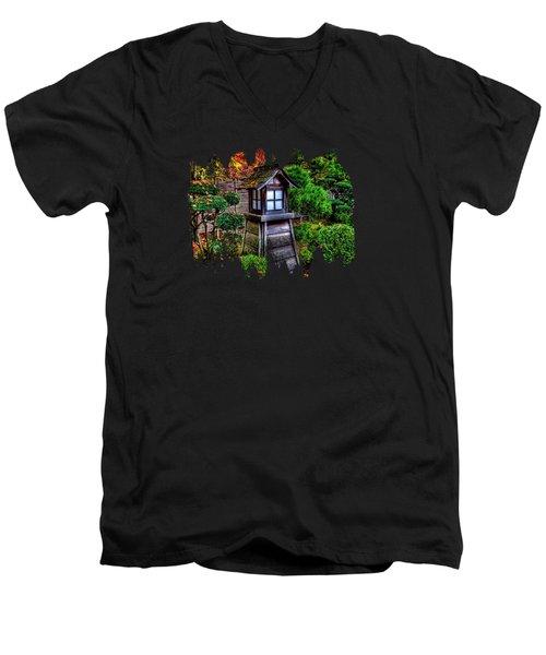 The Pagoda  Men's V-Neck T-Shirt