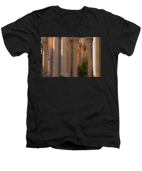 The Palace Columns Men's V-Neck T-Shirt