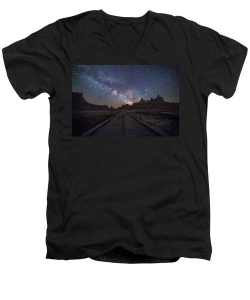 Men's V-Neck T-Shirt featuring the photograph The Path by Aaron J Groen