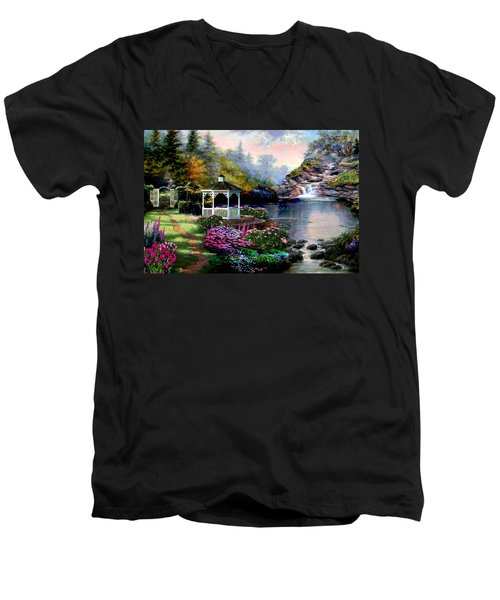 The Path Least Followed Men's V-Neck T-Shirt by Ron Chambers