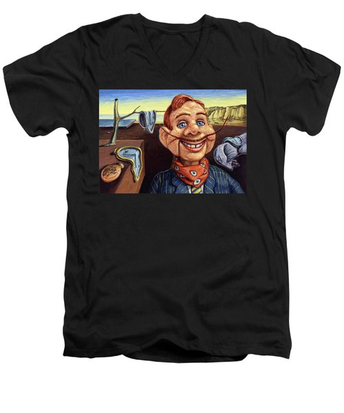 Men's V-Neck T-Shirt featuring the painting The Persistence Of Doody by James W Johnson