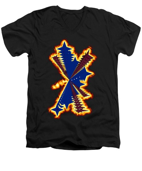 The Phoenix Men's V-Neck T-Shirt by Cathy Harper