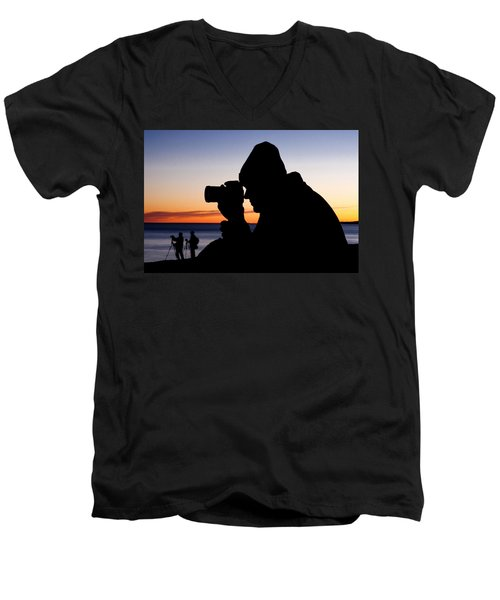 The Photographer Men's V-Neck T-Shirt