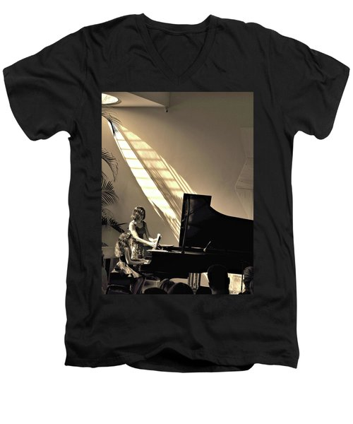 The Pianist Men's V-Neck T-Shirt