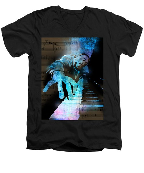 The Piano Man Men's V-Neck T-Shirt
