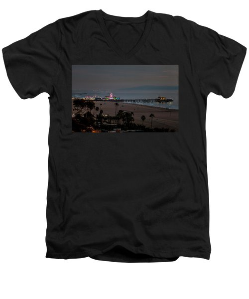 The Pier After Dark Men's V-Neck T-Shirt