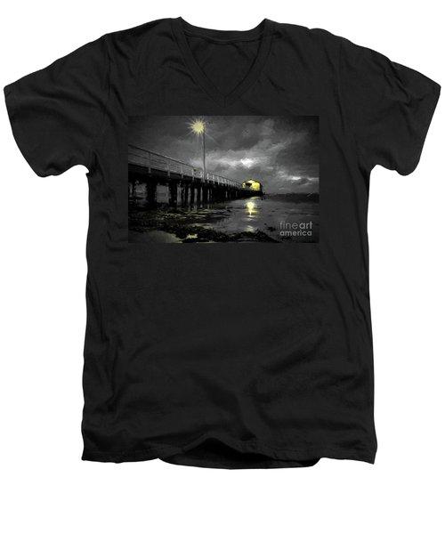 The Pier On The Bay Men's V-Neck T-Shirt