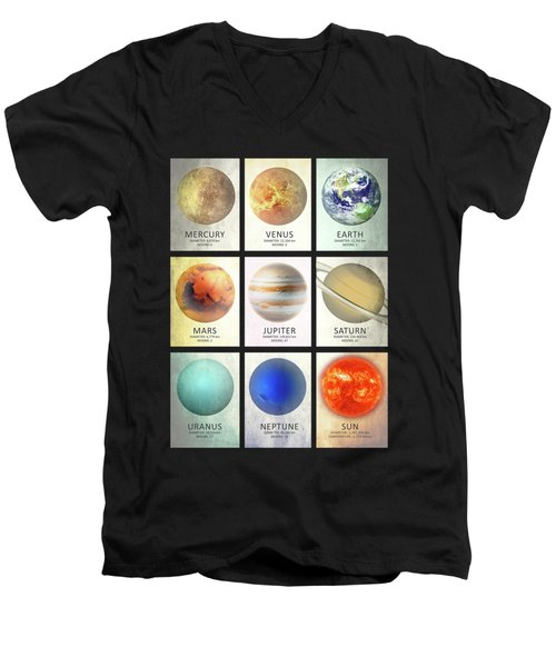The Planets Men's V-Neck T-Shirt by Mark Rogan