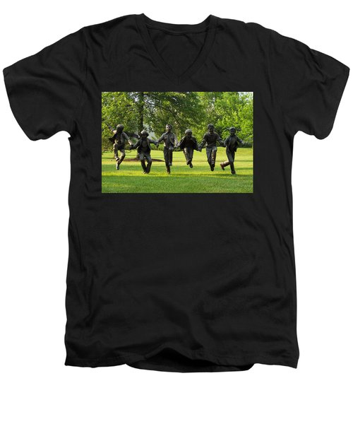 The Puddle Jumpers At Byers Choice Men's V-Neck T-Shirt