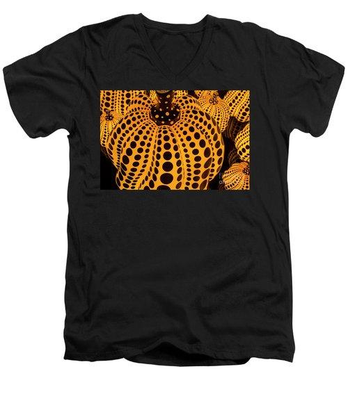 The Pumpkins Art Men's V-Neck T-Shirt