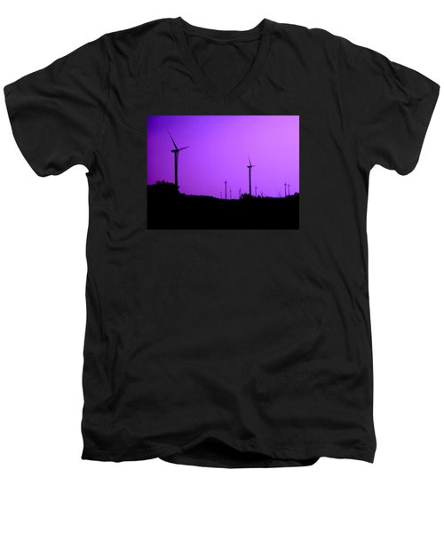 The Purple Expanse Men's V-Neck T-Shirt