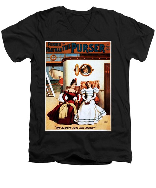 The Purser, Theatrical Poster, 1898 Men's V-Neck T-Shirt