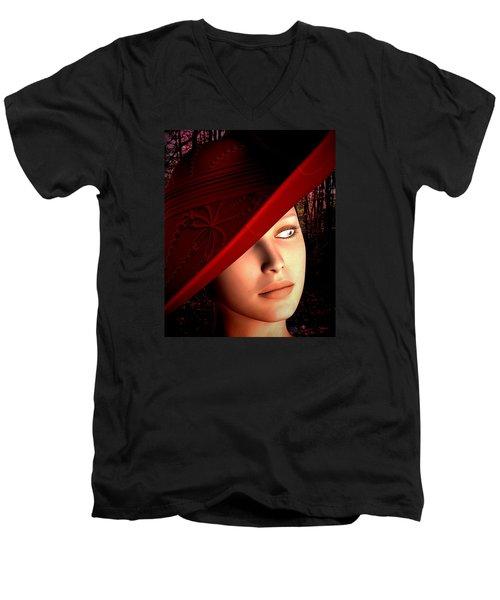 The Red Hat Men's V-Neck T-Shirt
