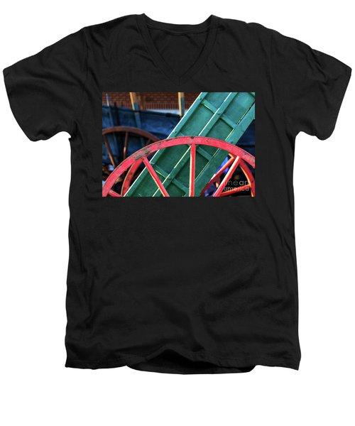 The Red Wagon Wheel Men's V-Neck T-Shirt