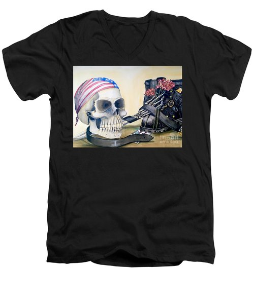 The Rider Men's V-Neck T-Shirt