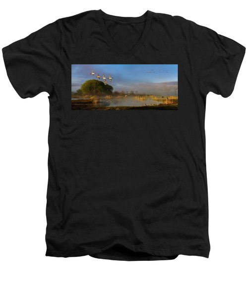 The River Bottoms Men's V-Neck T-Shirt