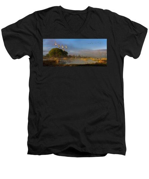 The River Bottoms Men's V-Neck T-Shirt