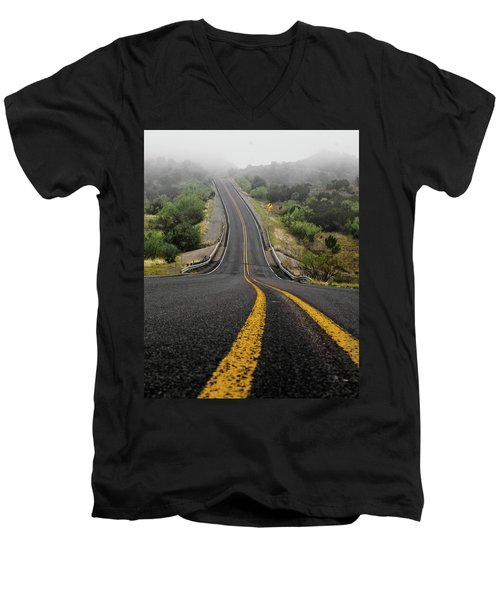 The Road Goes On Forever And The Party Never Ends Men's V-Neck T-Shirt