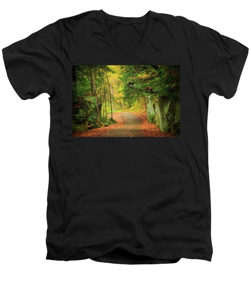 The Road To The Mill  Men's V-Neck T-Shirt