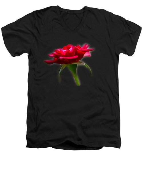 The Rose  Tee-shirt Men's V-Neck T-Shirt by Donna Brown