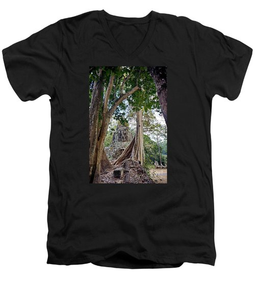 Men's V-Neck T-Shirt featuring the photograph The S Gate by Arik S Mintorogo