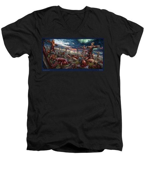 The Sacrifice Men's V-Neck T-Shirt by Tony Koehl