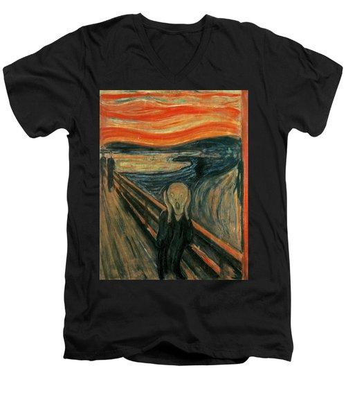 The Scream  Men's V-Neck T-Shirt