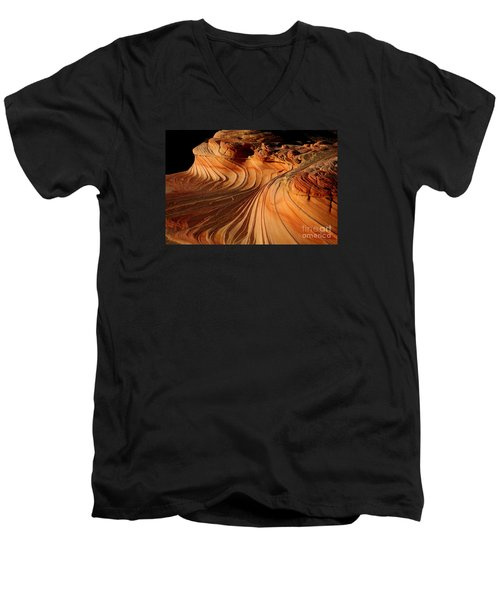 The Second Wave Men's V-Neck T-Shirt by Keith Kapple