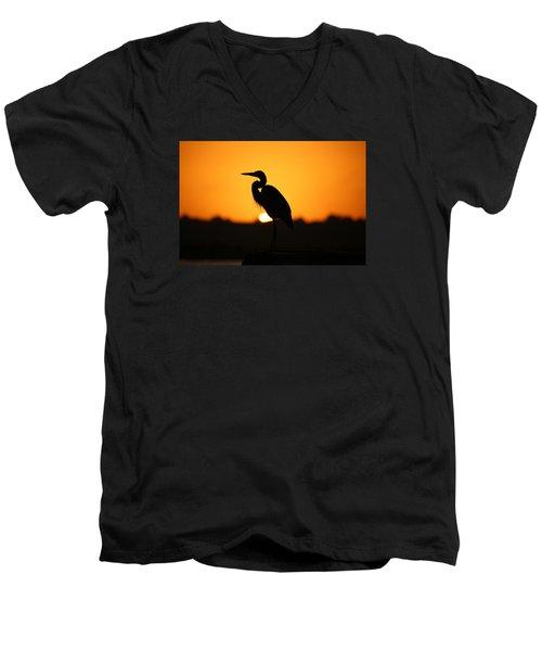 The Sentinel Men's V-Neck T-Shirt by Lamarre Labadie