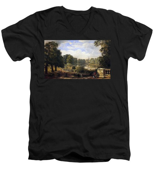 The Serpentine Men's V-Neck T-Shirt by Jasper Francis Cropsey