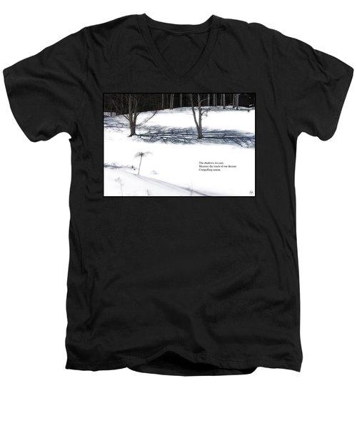 The Shadows We Cast Haiku Men's V-Neck T-Shirt