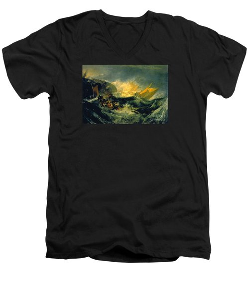The Shipwreck Of The Minotaur Men's V-Neck T-Shirt by MotionAge Designs