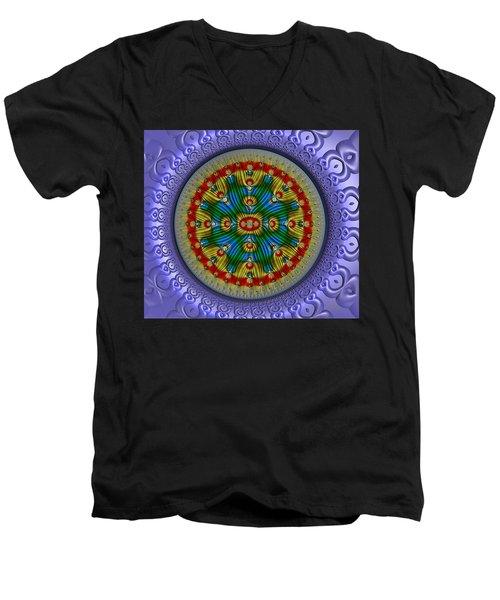 The Singularity Men's V-Neck T-Shirt by Manny Lorenzo