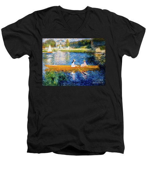 Renoir Boating On The Seine Men's V-Neck T-Shirt