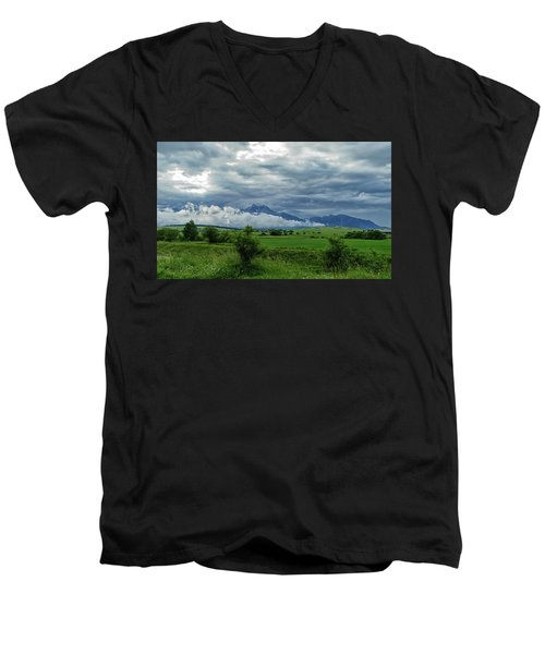 The Sky Has Fallen Men's V-Neck T-Shirt