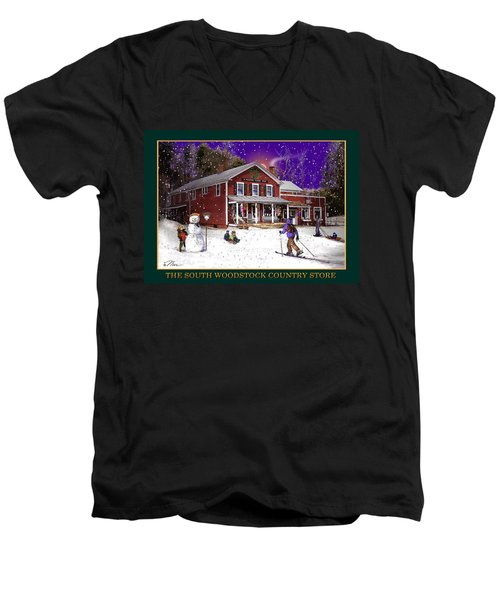 The South Woodstock Country Store Men's V-Neck T-Shirt by Nancy Griswold