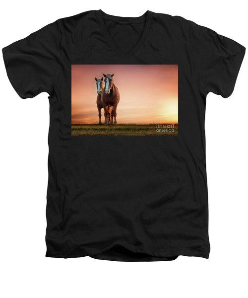 The Stallion And The Mare II Men's V-Neck T-Shirt by Tamyra Ayles