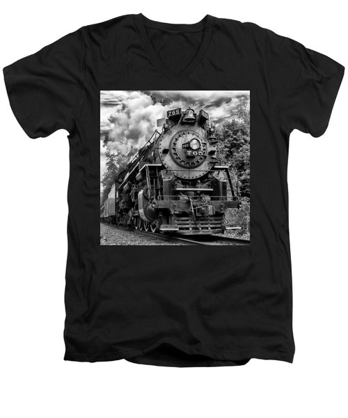 The Steam Age  Men's V-Neck T-Shirt